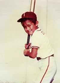 Bobby Dozier during his Turley Jets days, the half-Asian slugger bopping heads in Tulsa Little League