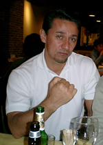 photo of Bobby Dozier in a boxing pose, i.e. acting goofy!